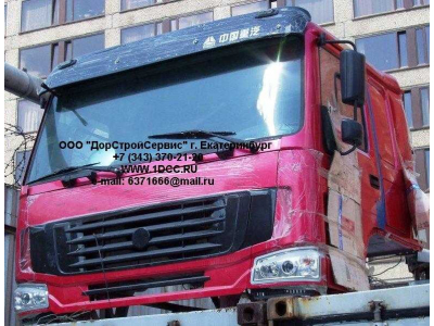 Кабина H2 красная со спальником HOWO (ХОВО) HW76 фото 1 Иваново